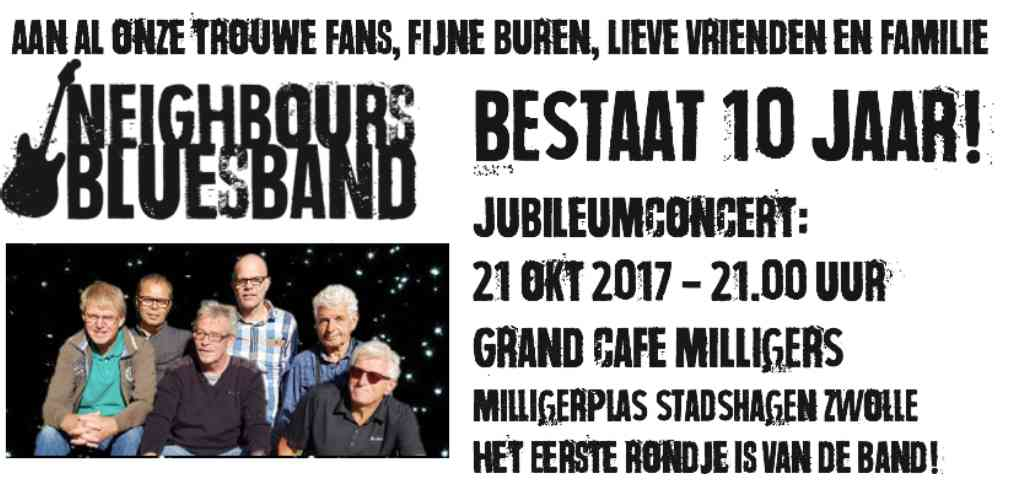 10 jarig jubileum Neighbours Blues Band