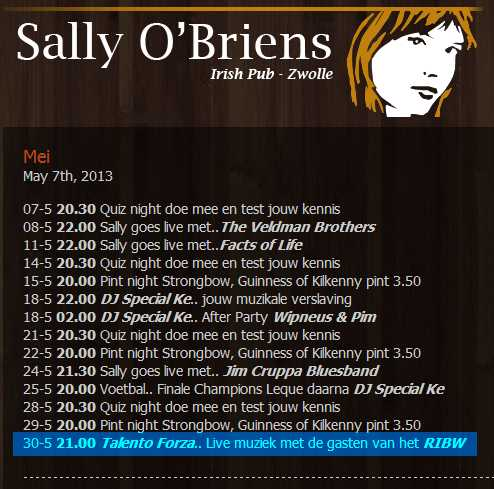 Agenda Sally O'Briens